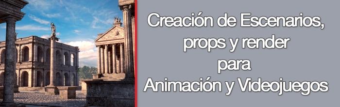 Curso Universitario de Creación de Escenarios, props y render para Animación y Videojuegos_portada