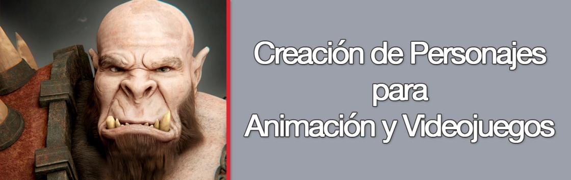 Curso Universitario de Creación de Personajes para Animación y Videojuegos_portada