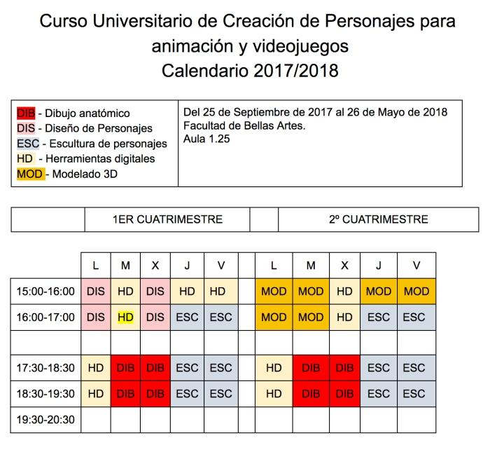 horario 1º - 17-18